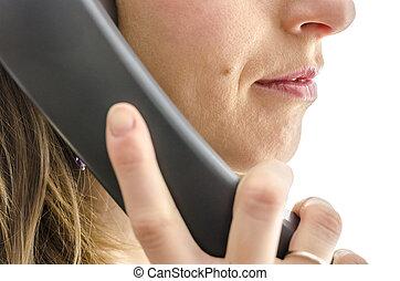 被收獲, 看法, ......的, 女性, 呼叫中心, 雇員