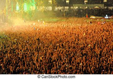 被模糊不清, 人群, ......的, 人們, partying