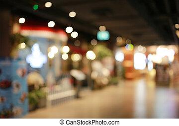 被模糊不清, 購物中心, 或者, 隱隱綽綽, 部門, store.