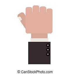 被緊握, 拇指, 拳頭, 手指