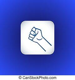 被緊握, 符號, 拳頭, 插圖, 手