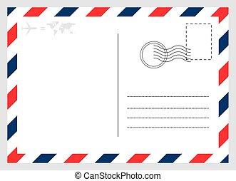 被隔离, 圖表, 卡片, 現代, 空白, 背景。, 設計, 明信片, 旅行