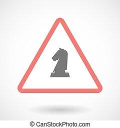 被隔离, 警示, 圖象, 由于, a, 騎士, 國際象棋, 圖