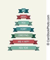 被風格化, 樹。, 聖誕節