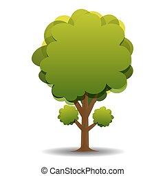被風格化, 綠色, 圖畫, 插圖, olive.