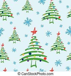 被風格化, 裝飾, 樹, seamless, 聖誕節