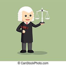 裁判官, 小槌, スケール