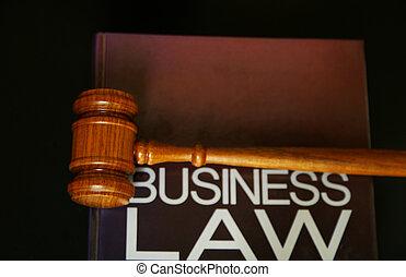 裁判官, 小槌, 上に, a, ビジネス, 法律書