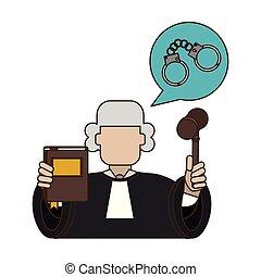 裁判官, 小槌, 憲法