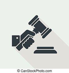 裁判官, 小槌, 手を持つ