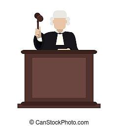 裁判官, 小槌, 演壇