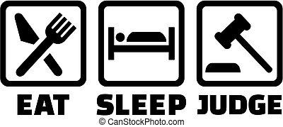 裁判官, 小槌, 睡眠, 食べなさい