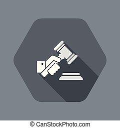 裁判官, 手の 保有物, 小槌
