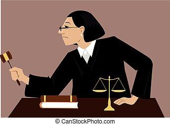裁判官, 法廷, 女性