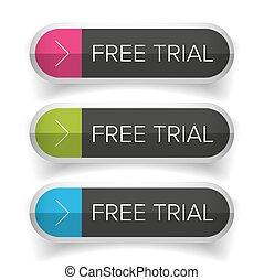 裁判, ボタン, 自由にされた