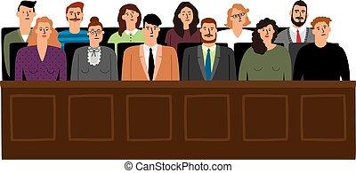裁判, 法廷, 陪審