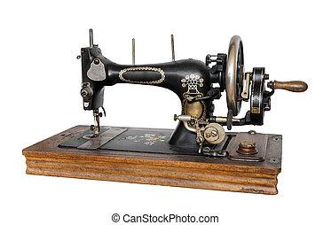 裁縫, 古い, machine.