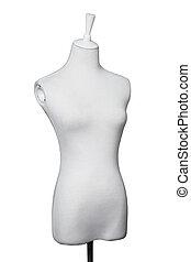 裁縫, 形式, 由于, 白色, 織品, 覆蓋