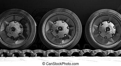装甲, 車輪, 軌道に沿って進む, 車, タンク