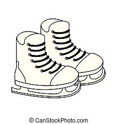 装置, アイススケートをする