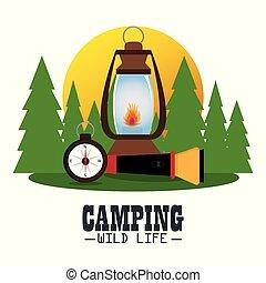 装置, キャンプ, 地域