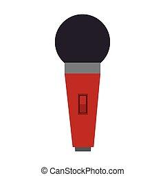 装置, マイクロフォン, 赤