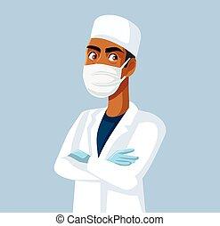 装置, 保護である, 医学, 個人的, 身に着けていること, 医者
