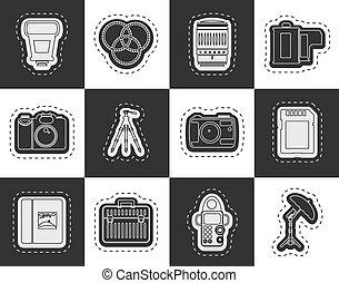 装置, 写真撮影, アイコン