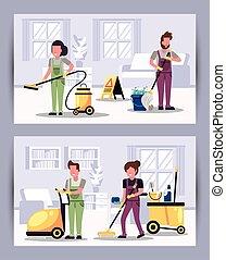 装置, 労働者, housekepping, チーム