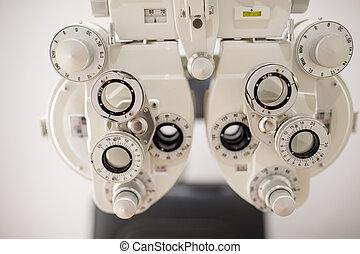 装置, 機械, テスト, 眼