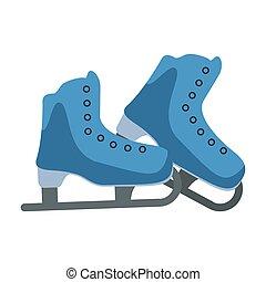 装置, 氷, ブーツ, スケート