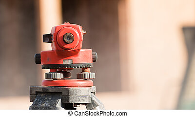 装置, 測量技師, 経緯儀, レベル
