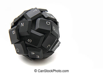 装置, 球, キーボード, 入力, -, 新しい
