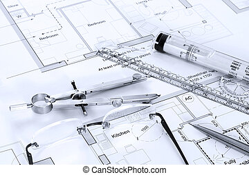 装置, 計画, 建築である, 図画
