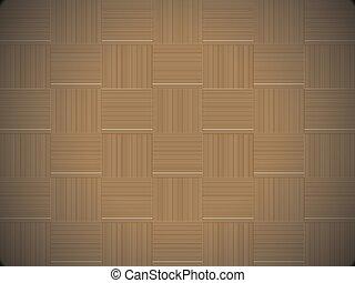 装飾用である, はたを織る, 木製である, 抽象的, pattern., seamless, バックグラウンド。, vector., textured, バスケット, しまのある