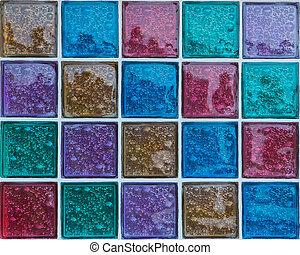 装飾用である, ガラスブロック, 中に, 別, 色