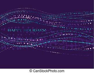 装飾用である, クリスマス, ボール, カード, すみれ, 雪, イラスト, 波, 招待, ベクトル, 表面, 背景, 年, 新しい, color., クリスマス, design.