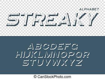 装飾用である, グランジ, effect., アルファベット, ベクトル, そうさせられた, textured, 壷
