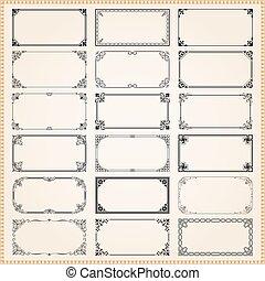 装飾用である, セット, 割合, 1, フレーム, 2x1, ボーダー, 長方形