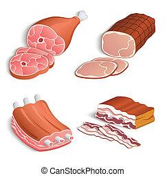 装飾用である, セット, 肉, アイコン