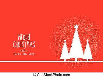 装飾用である, テキスト, 木, 背景, クリスマス, 0312