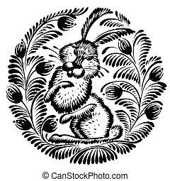 装飾用である, ノウサギ, シルエット