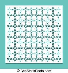 装飾用である, パネル, ∥ために∥, レーザー, cutting., 普遍的, 広場, pattern., ∥, 比率, ある, 1:, 1., ベクトル, illustration.