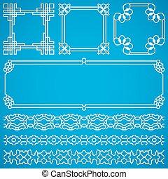 装飾用である, 中国語, 装飾, ベクトル, 東洋人, フレーム, ボーダー