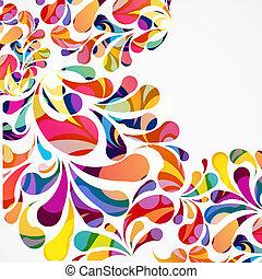 装飾用である, 円形にされる, カラフルである, 抽象的, バックグラウンド。, drops., 弧