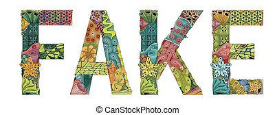 装飾用である, 単語, オブジェクト, 装飾, ベクトル, 偽造品, zentangle.