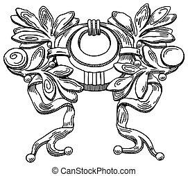 装飾用である, 建物, (ukraine), 要素, 歴史的, ファサド, lviv