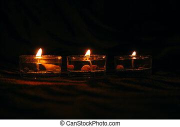 装飾用である, 背景, 蝋燭, 3, 暗い