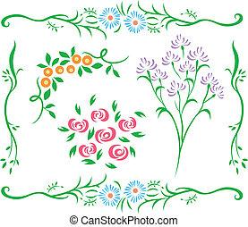 装飾用である, 花, デザイン