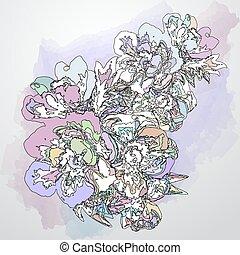 装飾用である, 花, 背景